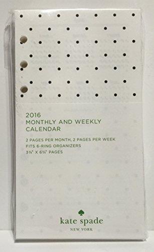 Kate Spade Calendar Planner : Kate spade monthly weekly calendar planner insert
