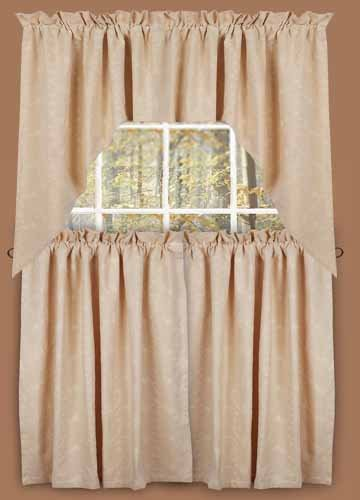 tier curtains: Tiers - Candlewicking - Primitive Country Rustic Window ...