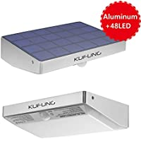 KUFUNG SL-48 48-LED Solar Motion Lights for Security (Silver)