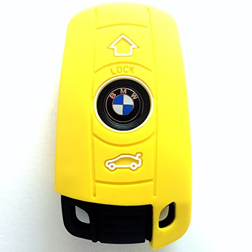 Smart Remote Key Cover Protector For Bmw Yellow