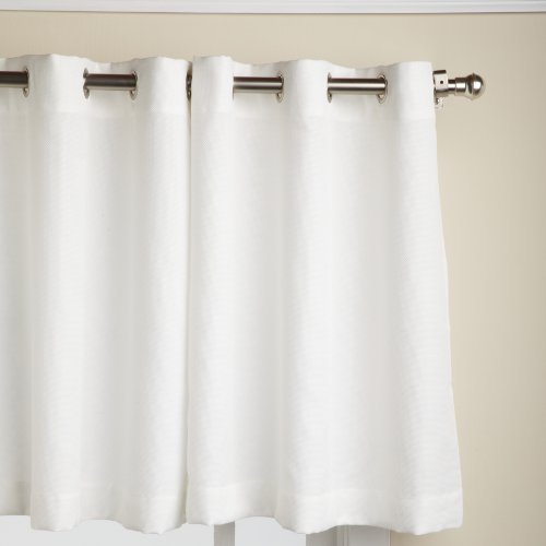 Lorraine Home Fashions Jackson 58-Inch X 24-Inch Tier Curtain Pair, White front-9023
