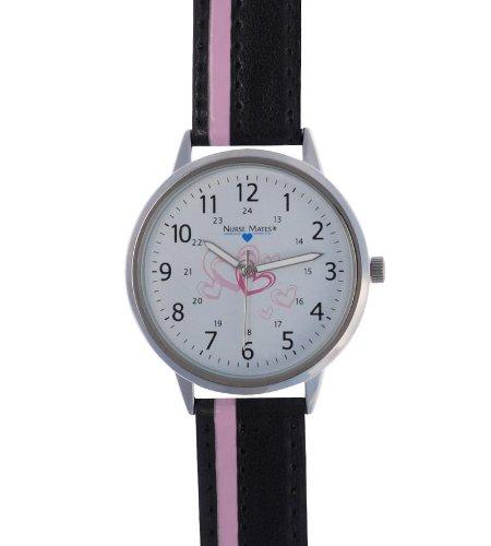 Cheap Nurse Mates Sketched Hearts Nursing Scrub Watch 921501 Black Black (B007KA2PZQ)