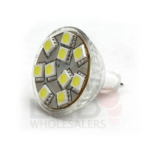 Ledwholesalers, Package of 10 MR11,10LEDs SMD5050,12v