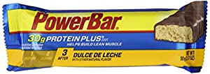 PowerBar Protein Plus 30g, Dulce De Leche, 3.17-Ounce Bars (Pack of 12)