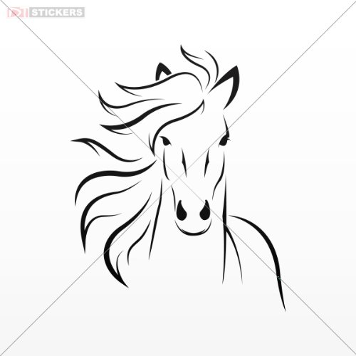 Decal Vinyl Stickers Horse Car Window Wall Art Decor Doors Helmet Truck Motorcycle Note Book Mobile Laptop Size: 5 X 4 Inches Black