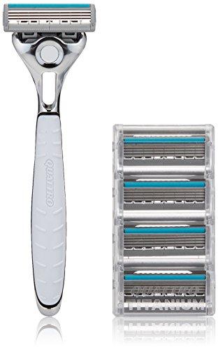 schick-quattro-titanium-shaving-starter-gift-set-for-men-with-1-quattro-titanium-razor-for-men-and-4