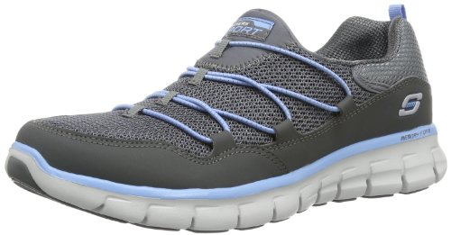 Women's Skechers, Synergy - Loving Life Walking Shoe CHARCOAL/BLUE 7 M
