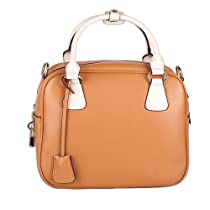 Hot Sale Fineplus Women's Vintage Contrast Colors Shoulder Bag (Apricot)