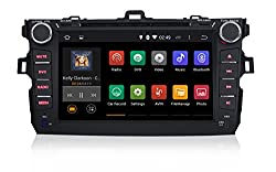 See Being Lucky G33AD442TY02 Car 8 inch Android 4.4 Double 2 Din DVD GPS Navigation Stereo Head Unit Deck for Toyota Corolla 2008 2009 2010 2011 Details