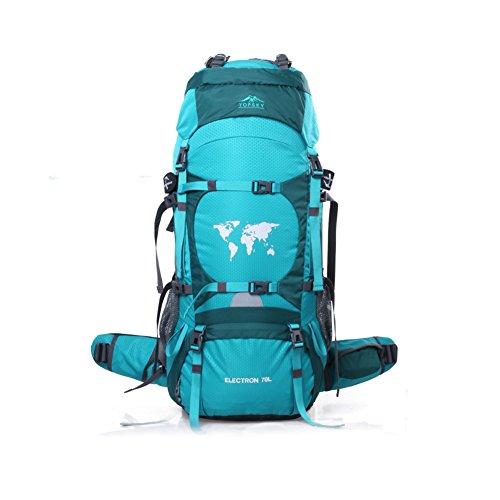 Sac d'escalade en plein air / sac à dos Voyage / forfait de camping de randonnée imperméable à l'eau-bleu 70L