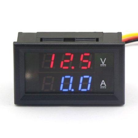 Riorand Digital Dc 4.5-30V Voltmeter 0-50A Ammeter Dual Led Display Volt Amp Panel Meter