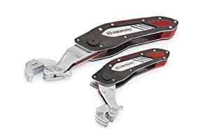 Crescent CFW2 2 Piece Folding Flip and Grip Ratcheting Wrench, Silver/Black/Red