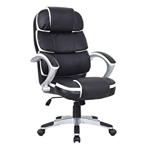 Jupitor Black Executive Leather Office Computer Chair Adjustable + Tilt       Office ProductsCustomer review and more news