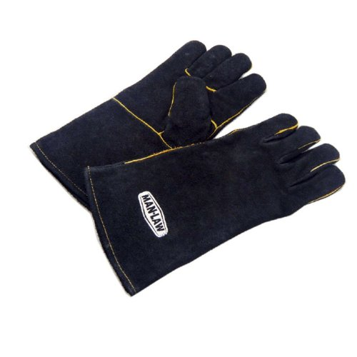 MAN LAW BBQ Leather Gloves, 14-Inch