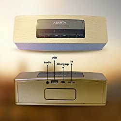 ABANTA BT 51N - Portable Bluetooth Mobile / Tablet Speaker with Shinning Touch Finish In Golden Colour ( 5 Colours Available)