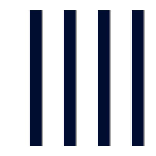 York Wallcoverings ZB3419 Wide Stripe Pinstripe Wallpaper, White/Navy/Steel Gray