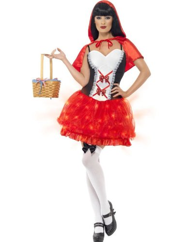 Light Up Red Riding Hood Fancy Dress Costume