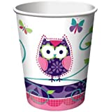 Creative Converting Owl Pal Hot or Cold Beverage Cups, 8-Count