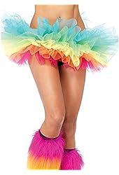 Leg Avenue Women's Rainbow Organza Tutu