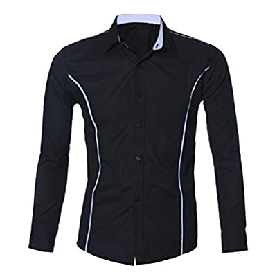 Mens Shirt,Neartime Luxury Full Sleeve Slim Fit Collared Dress Shirts for Men