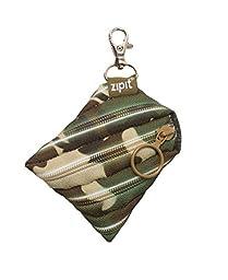 ZIPIT Camo Mini Pouch Coin Purse, Green Camo