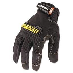 General Utility Spandex Gloves, Black, Large, Pair, Sold as 1 Pair, 2 per Pair