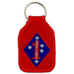 "U.S.M.C. 1st Marine Division Keychain 2 3/4"""