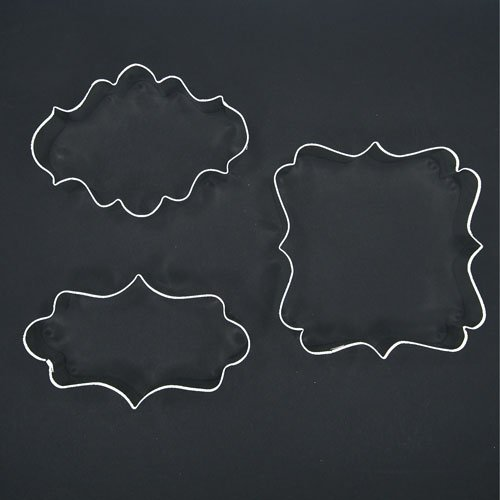 Plaque Frame Cookie Cutter Set For Decorating Wedding Cake Bridal Baby Shower Birthday Party Favors Decor