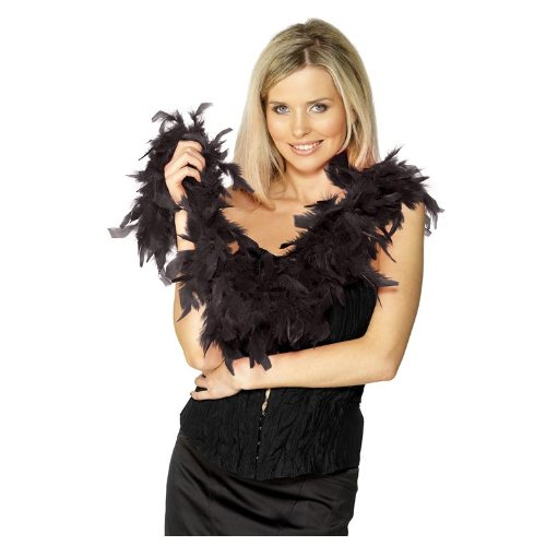 Fever Women's Boa 50G Feather 150Cm, Black, One Size