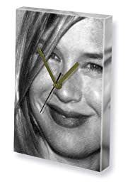 RENEE ZELLWEGER - Canvas Clock (A4 - Signed by the Artist) #js001