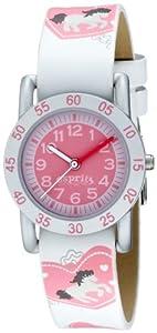 Esprit Loving horses rose A.ES102764003 - Reloj para niñas de cuarzo, correa de resina color varios colores