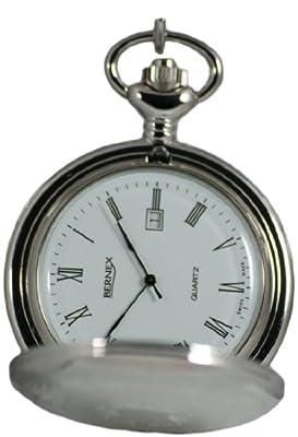 Bernex Pocket Watch GB21208 Rhodium Plated Full Hunter