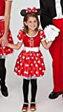 Disney Store Red Dazzling Sparkle Minnie Mouse Costume with White Satin Accents Size Small 5 6