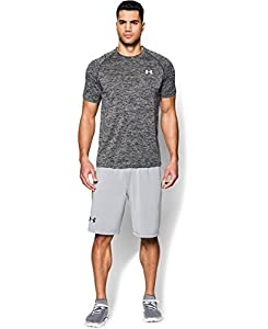 Under Armour Men's Short Sleeve Tech Tee, X-Large, Black/White/White