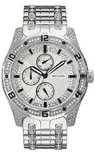 Bulova Crystal Multifunction Stainless Steel Men's watch #96C106