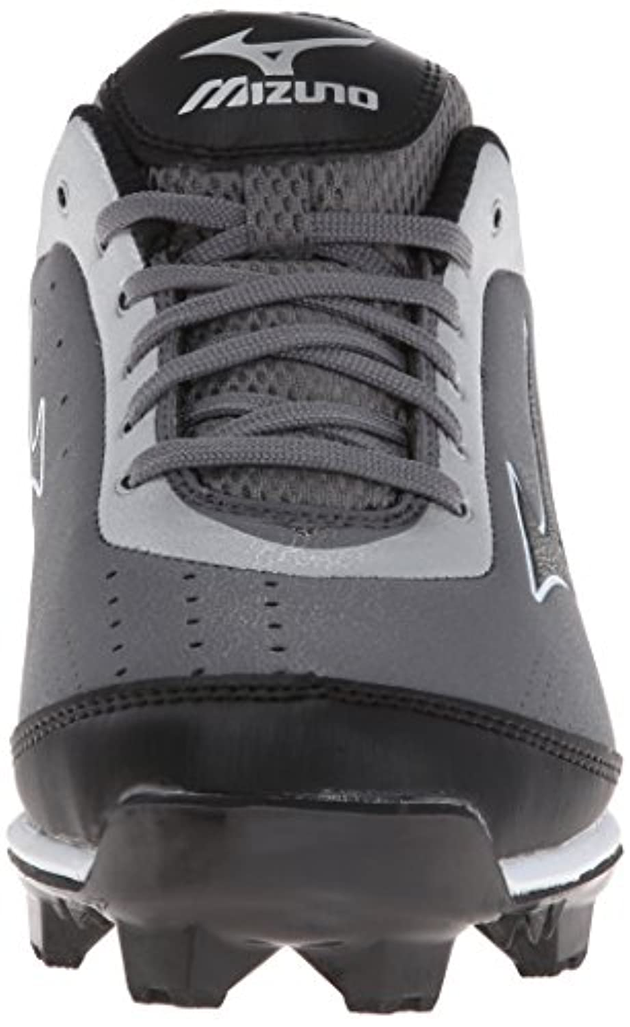 Mizuno Usa Mens 9 Spike Blaze Elite 5 GY BK Baseball Shoe, Grey/Black, 10.5 D US