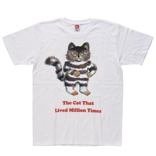 MLE 100万回生きたねこ シリーズ2 100万回生きたねこ Tシャツ サイズ:M