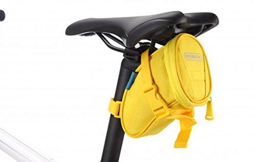 Layopo Roswheel Bicycle Bike Seat Saddle Bag, Yellow With Layopo'S Carabiner front-1024601
