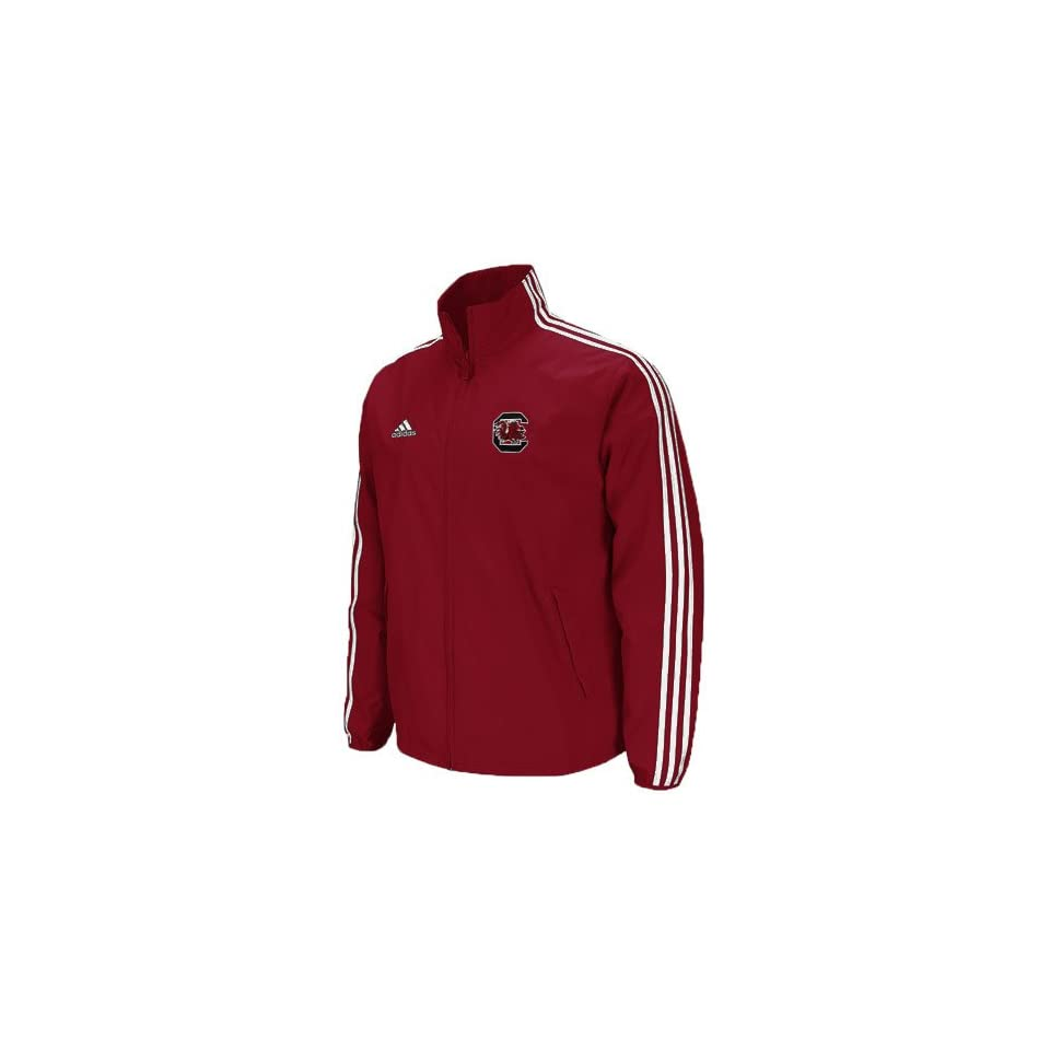 adidas South Carolina Gamecocks Garnet Primary Logo Lightweight Full Zip Hoodie Jacket (Small)