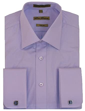 Lavender French Cuff Dress Shirt Cufflinks Included At