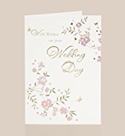 Flowers Wedding Day Card