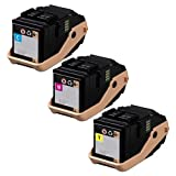 Doitwiser ® Compatible Toner Cartridges Pack Cyan Magenta Yellow For Xerox Phaser 7100 7100N 7100DN - 106R02605 106R02599 106R02600 106R02601 - Colour Yield 4,500 Pages (3 Pack)