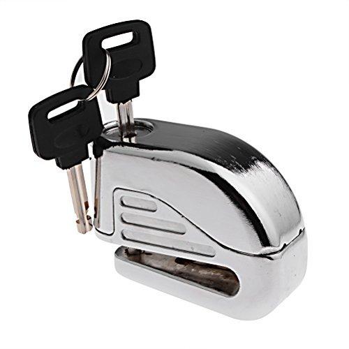 Anti Thief Sound Security Alarm Electron Disc Brake Lock 6mm Pin for Motorcycle Motorbike Safety Sport Racing Bike (Silver)
