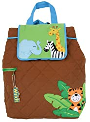 Stephen Joseph Quilted Backpack Boy Zoo