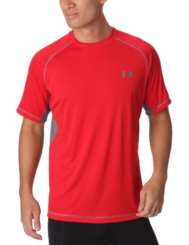 Under Armour Catalyst Short Sleeved T-Shirt Recycled Polyester for Men Red XXL
