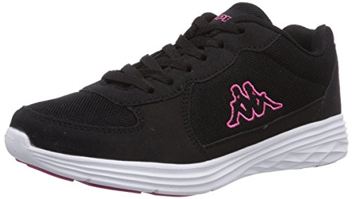 Kappa Dragon, Low-Top Sneaker unisex adulto, Nero (Schwarz (1122 Black/Pink)), 38