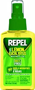 Repel 94109 Lemon Eucalyptus Natural Insect Repellent, 4-Ounce Pump Spray