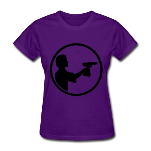 Custom Cordless Drill Craftsman Logo T-shirt Purple Printed Women Shirts Xxx-large