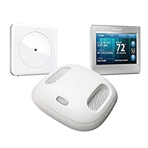 home automation bundle with hub honeywell wi fi thermostat and kidde interconnected smoke co. Black Bedroom Furniture Sets. Home Design Ideas