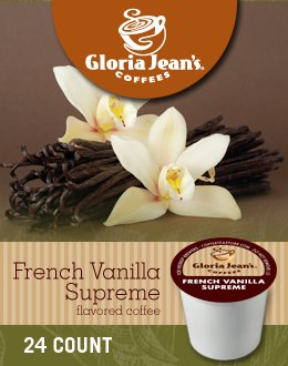 Gloria Jean's French Vanilla Supreme Coffee (2 Boxes of 24 K-Cups)